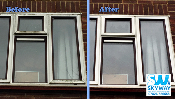 Dirty window before and after